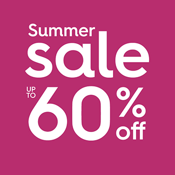 Summer sale, up to 60% off